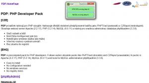 PDP: PHP Developer Pack 5.2.14 rev:1 - náhled