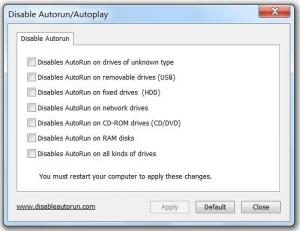 Disable Autorun/Autoplay - náhled