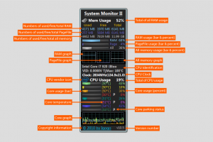 System Monitor II 15.3 - náhled