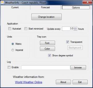 WeatherInfo 2.2 - náhled
