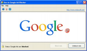 SterJo Google Ad Blocker - náhled
