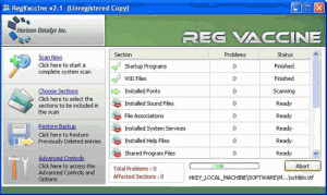 Registry Vaccine 2.1 - náhled