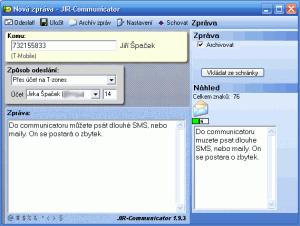JIR Communicator 1.9.6 - náhled