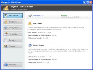 Argente - Disk Cleaner 1.2.0.3 - náhled