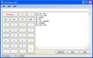 Calculator.NET 1.1.0.1 - náhled