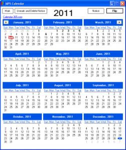MPS Calendar 1.5.1.3 - náhled