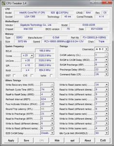 CPU-Tweaker 2.0 - náhled