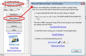 iMacros for Firefox 8.5.1 - náhled