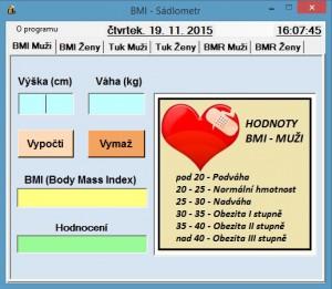 BMI - Sádlometr - náhled