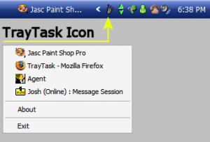 TrayTask 1.2 - náhled
