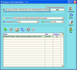 Myspace Video Downloader 3.15 - náhled