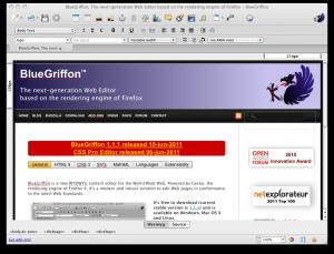BlueGriffon 2.3.1 - náhled