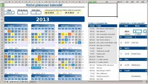 Roční plánovací kalendář 2.0 - náhled