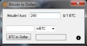 Bitcoin to Dollars - náhled