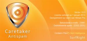 Caretaker Antispam 1.8.3 - náhled