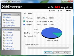 KernSafe DiskEncryptor 1.6 - náhled