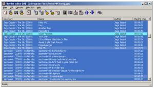 playlist editor - náhled