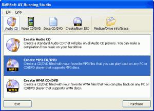 AV Burning Studio 2.7.4 - náhled
