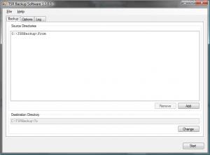 TSR Backup 1.1.05 - náhled