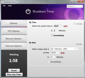 Shutdown Timer Portable 64-bit 3.3 - náhled