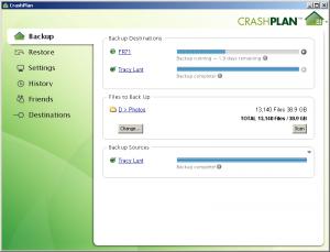 CrashPlan 4.8.2 - náhled