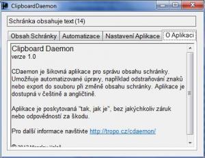 Clipboard Daemon 1.0 - náhled