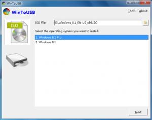 WinToUSB 3.4 - náhled