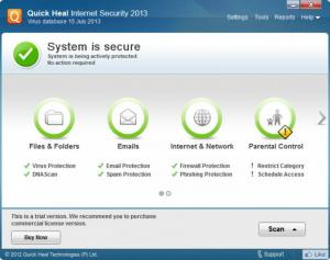 Quick Heal Internet Security 2014 15.00 - náhled