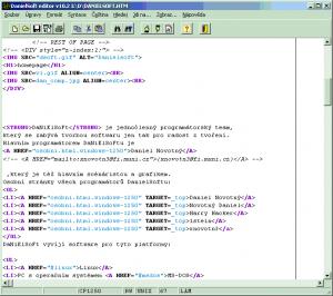 editor s HTML souborem - náhled