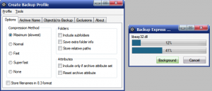 Backup Express 2.0 - náhled