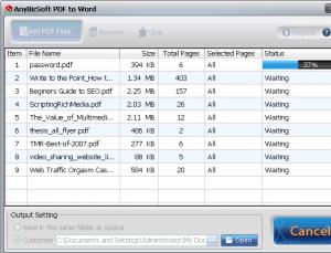 AnyBizSoft PDF to Word Converter 3.5.0 - náhled