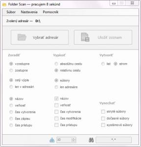 FolderScan 1.1 - náhled