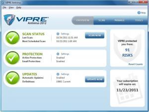 VIPRE Antivirus 2012 - náhled