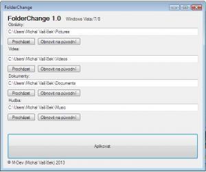 FolderChange 1.0 - náhled