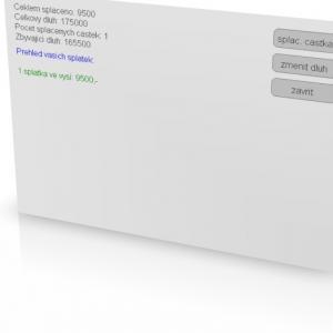 Splátkový Kalendář 1.0 - náhled
