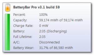BatteryBar 3.6.6 - náhled