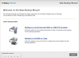 GFI BackUp 4.1 - náhled