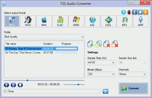 FSS Audio Converter 2.3.0.2 - náhled
