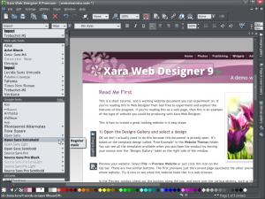 Xara Web Designer 9.2.7.30974 - náhled