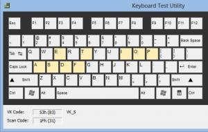 Keyboard Test Utility 1.0.1 - náhled