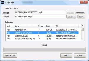 CinEx HD Utility 1.4.1.3 - náhled