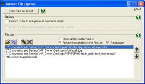 Instant File Opener 3.0.1 - náhled