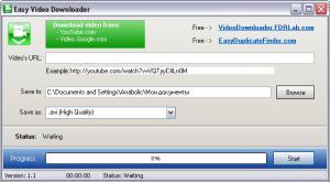 Easy Video Downloader 2.1 - náhled