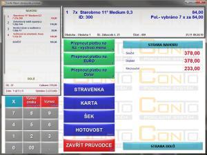 Pokladní software Conto 2.0 - náhled
