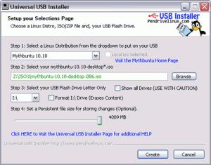 Universal USB Installer 1.9.6.6 - náhled