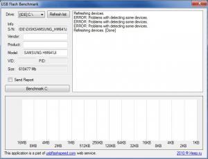 USB Flash Benchmark 1.0 - náhled