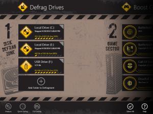 Auslogics Disk Defrag Touch 1.3.0.0 - náhled
