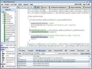 tIDE java IDE 2.65b - náhled