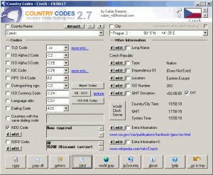 CountryCodes 2.7.0 - náhled