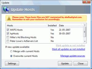 HostsMan 4.5.102 - náhled